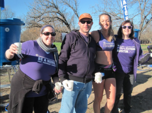 Pancan water station, bigtime support. eyes closed, I am running in my sleep :)