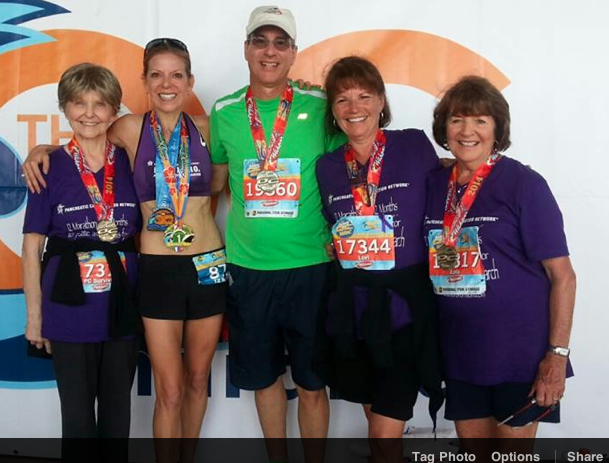 "Shawn Veronese ""Marathons for Mom"" Finishing her 12th marathon in 12 months with another Boston Qualifier!"